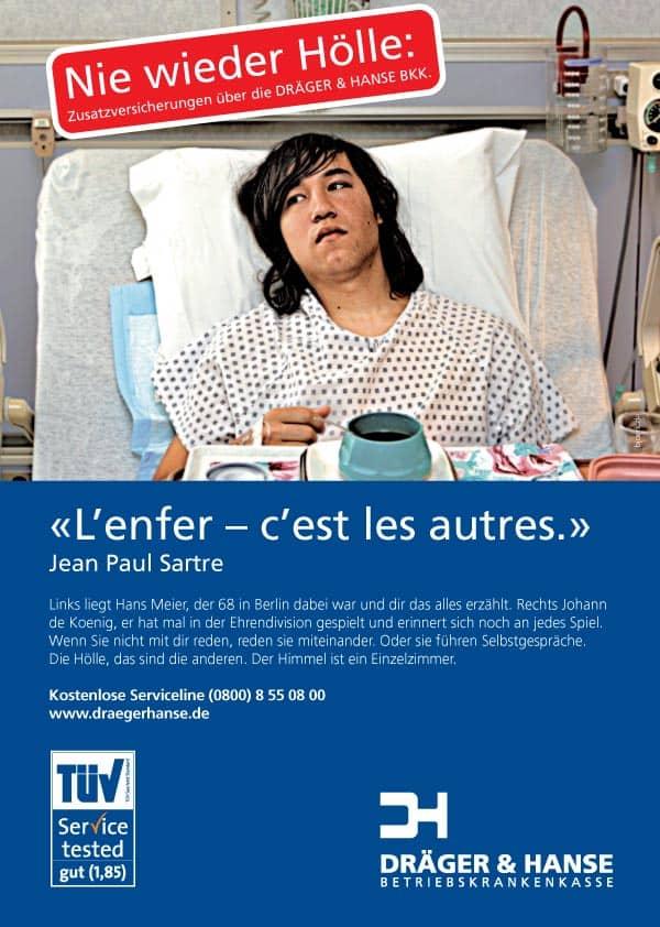 Anzeige für Krankenkasse