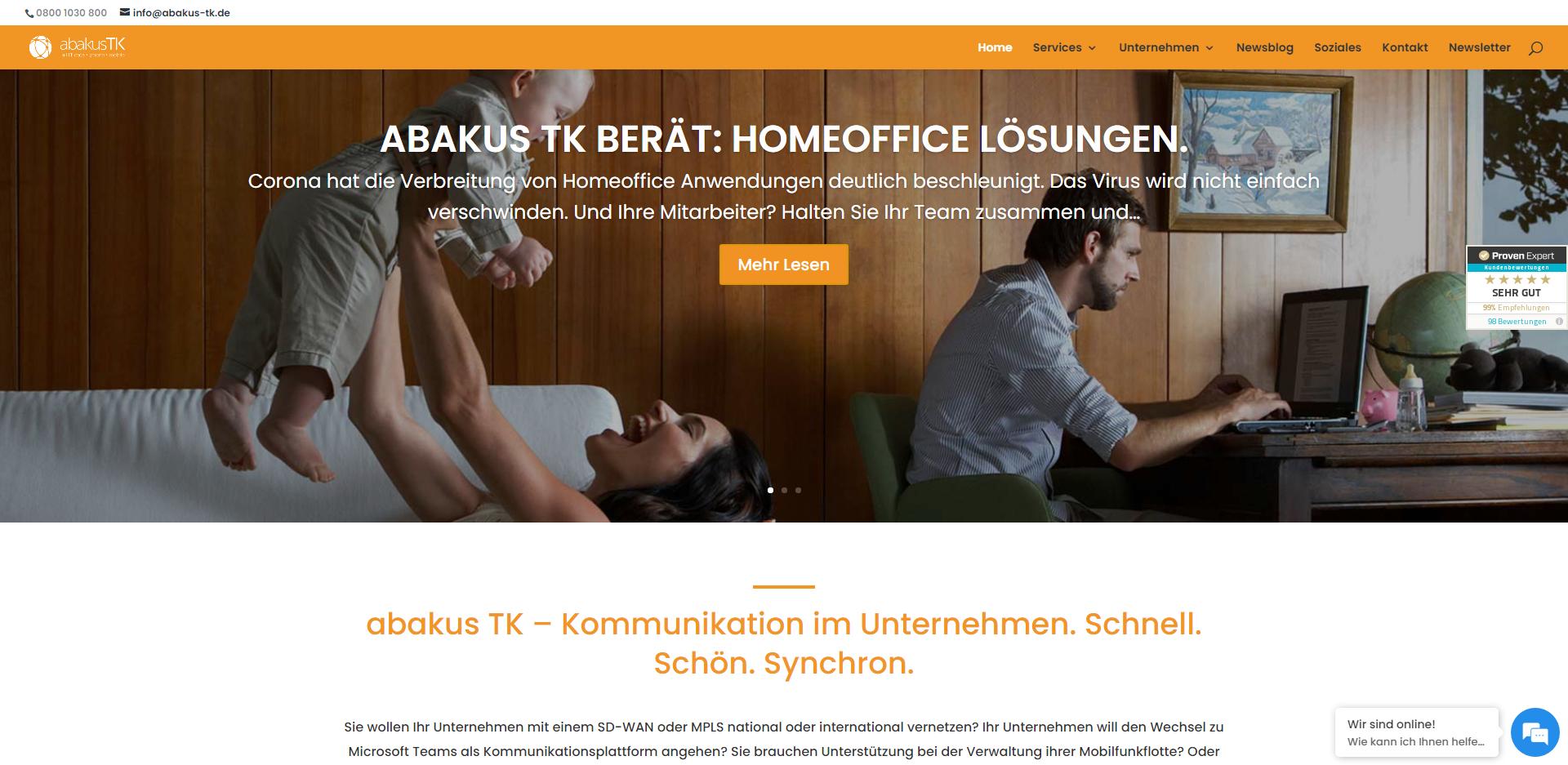 Website Abakus TK